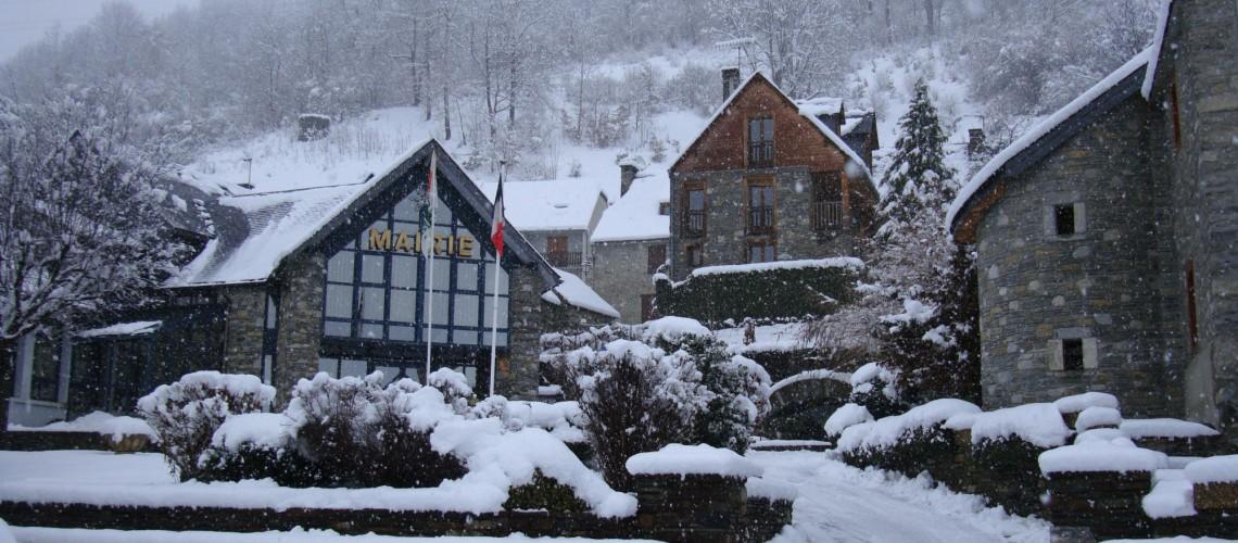 Loudenvielle sous la neige