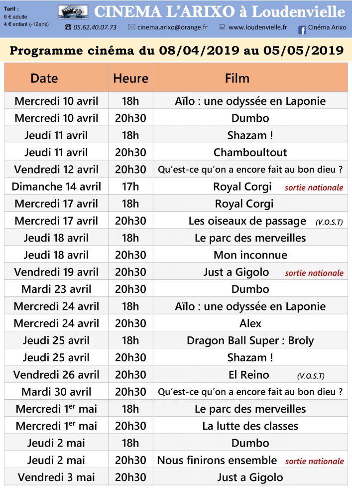 programme-cinema-arixo-loudenvielle-avril-mai-2019