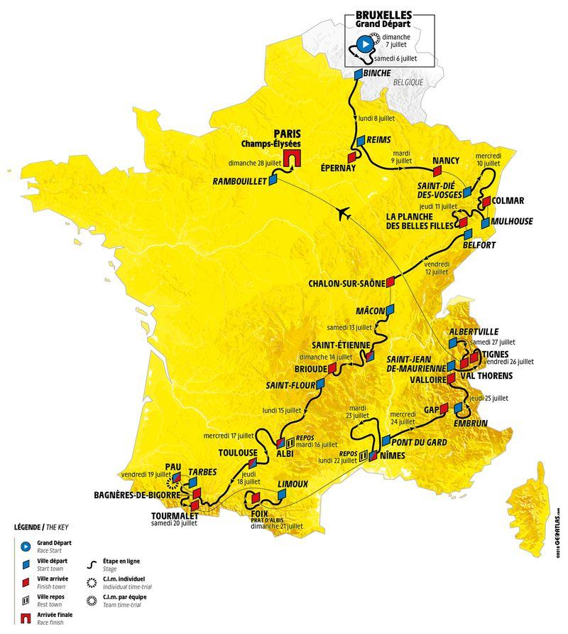 carte-tour-de-france-2019
