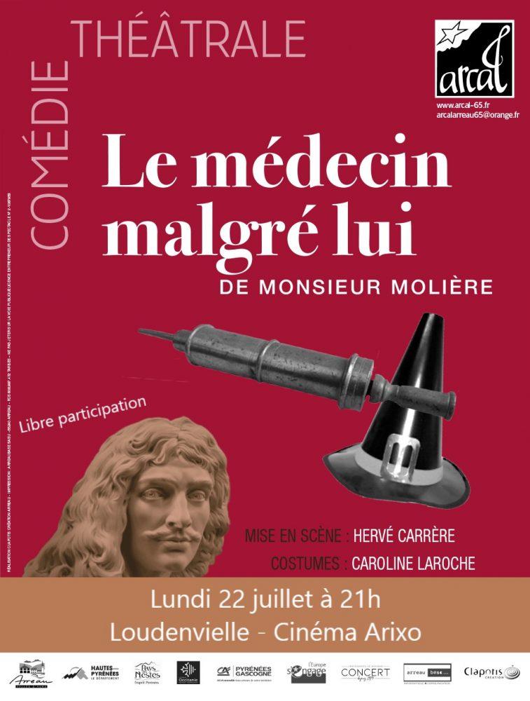 affiche-arcal-theatre-le-medecin-malgre-lui-arixo-22-07-2019-a-21h